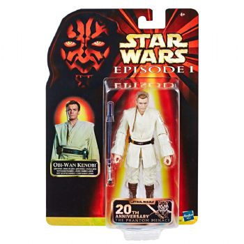 Star Wars Episode I Black Series Action Figure Obi-Wan 20th Anniversary Celebration Exclusive
